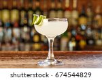 traditional cocktail daiquiri ... | Shutterstock . vector #674544829