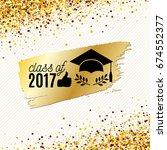 class of 2017 graduate banner... | Shutterstock .eps vector #674552377