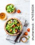 Vegetarian Salad With Lettuce...
