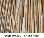 wall of reed stalks. reed... | Shutterstock . vector #674557984