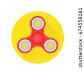 hand fidget spinner toy flat... | Shutterstock .eps vector #674558281