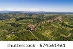 aerial view of gorica hills  ... | Shutterstock . vector #674561461