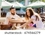 family  pet  animal and people...   Shutterstock . vector #674566279