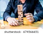 business plan and successful ... | Shutterstock . vector #674566651