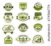 park  green city garden  eco... | Shutterstock .eps vector #674566774
