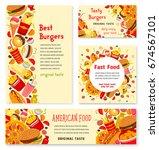 fast food restaurant banner... | Shutterstock .eps vector #674567101