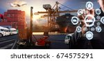 smart technology concept with...   Shutterstock . vector #674575291