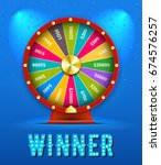 Vector Fortune Wheel 3d Object...