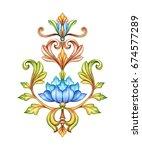 floral ornament  medieval...   Shutterstock . vector #674577289