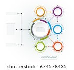 vector abstract molecules with... | Shutterstock .eps vector #674578435
