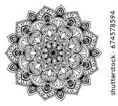 mandalas for coloring book.... | Shutterstock .eps vector #674578594