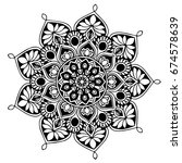 mandalas for coloring book.... | Shutterstock .eps vector #674578639