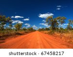 Outback Road In The Northern...