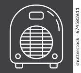 electric fan heater line icon ... | Shutterstock .eps vector #674582611