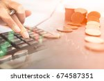 concept of currency trading.... | Shutterstock . vector #674587351