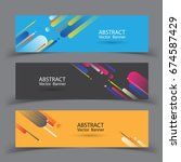 abstract banner design. vector... | Shutterstock .eps vector #674587429