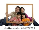portrait of a family   | Shutterstock . vector #674592211