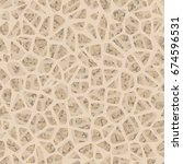 bone inside structure seamless... | Shutterstock .eps vector #674596531
