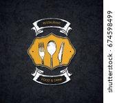 restaurant menu design. vector...   Shutterstock .eps vector #674598499