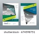 vector design brochure flyer ...   Shutterstock .eps vector #674598751