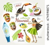 hawaii vector collection of...