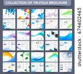 professional tri fold leaflet ... | Shutterstock .eps vector #674602465