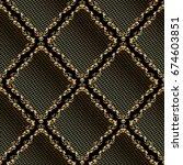 lattice seamless pattern.... | Shutterstock .eps vector #674603851