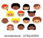 vector cartoon characters... | Shutterstock .eps vector #674610505