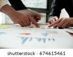 business people meeting working ... | Shutterstock . vector #674615461