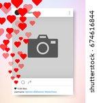 social network photo frame many ... | Shutterstock .eps vector #674616844