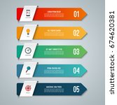 arrow infographic elements.... | Shutterstock .eps vector #674620381