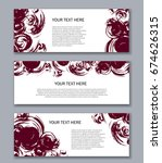 set of horizontal banners with... | Shutterstock .eps vector #674626315
