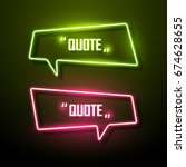 neon sign speech bubble. vector ... | Shutterstock .eps vector #674628655