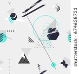 abstract seamless geometric... | Shutterstock .eps vector #674628721