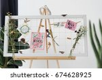creative board with greeting...   Shutterstock . vector #674628925