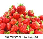 Ripe Strawberry Isolated On A...