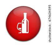 bottle with glass icon | Shutterstock .eps vector #674634595