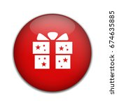 gift box icon   present button | Shutterstock .eps vector #674635885