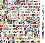 big size newspaper  magazine... | Shutterstock . vector #674636671