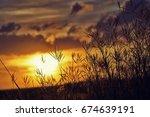 golden heaven light hope... | Shutterstock . vector #674639191