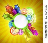 retro disco banner with... | Shutterstock . vector #67464766