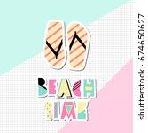 retro typographic summer design ...   Shutterstock .eps vector #674650627