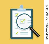 survey  checklist flat design... | Shutterstock .eps vector #674652871