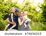 young family with little...   Shutterstock . vector #674656315