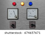 electrical control panel with... | Shutterstock . vector #674657671