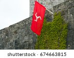 isle of man national flag... | Shutterstock . vector #674663815