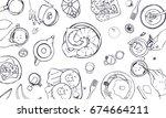 horizontal  illustration on... | Shutterstock .eps vector #674664211