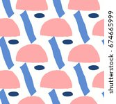 seamless repeating pattern with ... | Shutterstock .eps vector #674665999