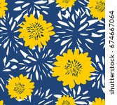 seamless repeat pattern with... | Shutterstock .eps vector #674667064