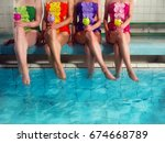 Four Girls In Colorful...